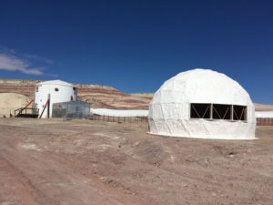 Side view of MDRS with covered tunnels
