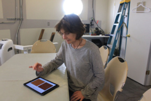 Annalea doing IMBP color test