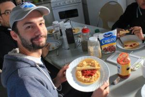 Alexandre and breakfast monster
