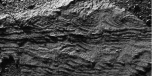 Cross laminated sandstone near Erebus crater, Meridiani, Mars (NASA/JPL)
