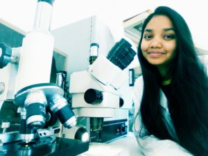 Anushree in the science dome lab