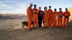 Crew 160 on twin EVA experiment.