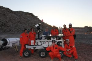 Crew mars 160 with canadian space agency rover.