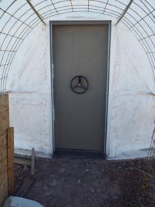 Door to science dome.