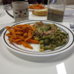 tuna and beans salad with sweat potatoes