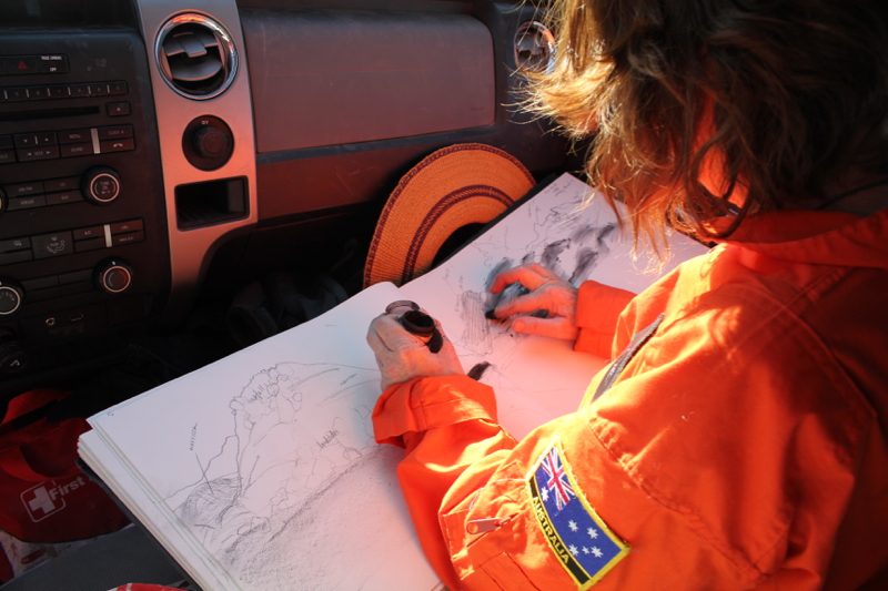 Annalea drawing in the pev.