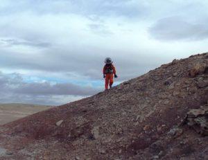 Coming over the ridge